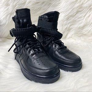 Nike Mens Air Force 1 Sneakers High Top Perforated